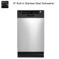 "Kenmore 18"" Built-In Dishwasher With QuietGuard - Available In Stainless Steel"