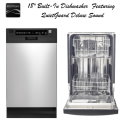 """Kenmore 18"""" Built-In Dishwasher Featuring QuietGuard Deluxe Sound - Stainless Steel"""