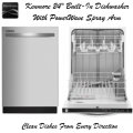"""Kenmore 24"""" Built-In Dishwasher W/ PowerWave Spray Arm- Available In Full Stainless Steel"""