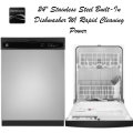 """Kenmore 24"""" Built-In Dishwasher with PowerWave Spray Arm - Available In Stainless Steel"""