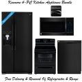Kenmore 4-Piece Black Kitchen Appliance Package-Refrigerator, Range, Microwave & Dishwasher