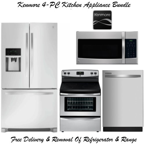 Kenmore 4-Piece StainlessSteel Kitchen Appliance Package | Luther ...