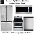 Kenmore 4-Piece Black/Stainless Steel Kitchen Appliance Package