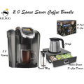 Keurig 2.0 Space Saver Bundle-Includes K-Cup Drawer, Carafe, Travel Mug & 48 Count K-Cup Pack