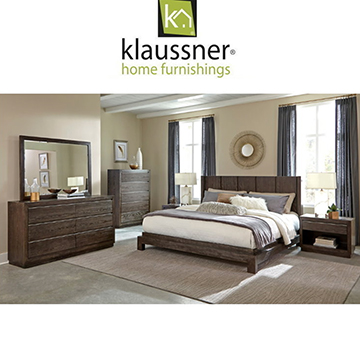 Enjoy This Sylish and Sleek 6-Piece Bedroom Set in a Dark Walnut Finish