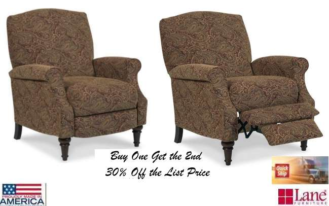 Zoom  sc 1 st  LutherSales & Paisley Patterned High Leg Recliner in an Incredibly Smooth u0026 Soft ... islam-shia.org