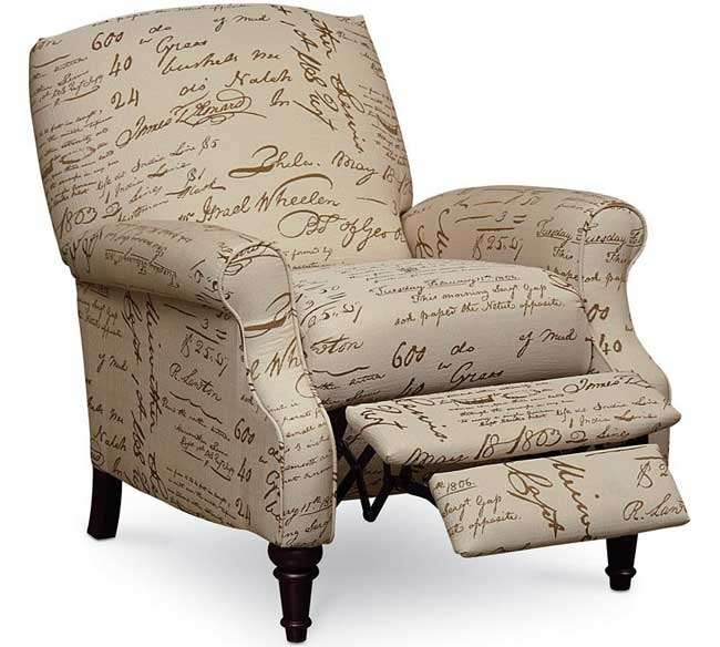 Relaxed Casual Styling Recliner Featuring Handwritten Print Over a Beige Microfiber Upholstery | Luther Appliance and Furniture  sc 1 st  LutherSales & Relaxed Casual Styling Recliner Featuring Handwritten Print Over a ... islam-shia.org
