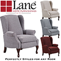 Luxury High-Leg Recliner that Looks Like a Chair Featuring Quality Upholstery & Cherry Turned Legs