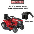 "Craftsman 42"" 19 HP Briggs & Stratton Fender Hydro Automatic Riding Mower With Auto Bin Bagger"