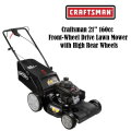 "Craftsman 21"" 160cc Front-Wheel Drive Lawn Mower with High Rear Wheels"