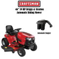 "Craftsman 46"" 19 HP Briggs & Stratton Automatic Riding Mower With Auto Bin Bagger"