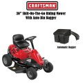 "Craftsman 30"" 382cc 6 Speed Shift-On-The-Go Rear Engine Riding Mower w/Mulch Kit & Auto Bin Bagger"