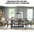 Rachael Ray Home by Legacy Classic Furniture Trestle Dining Room Set w/Table Extending To 108""