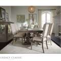 Traditional 7-PC Dining Room Set with Distinctive Design Elements in A Neutral Tone of Brown & Gray