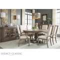 Manor House by Legacy Round to Oval Dining Room Set in a Neutral Cobblestone Finish