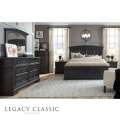 Legacy Classic Townsend Queen Arched Panel Bed in Dark Sepia Rustic Birch Veneer Finish