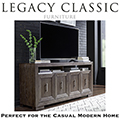 Stylish Entertainment Console in White Oak Finished in a Mink Color with Silver Undertones