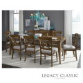 Transitional Dining Comes Alive with this 7-PC Rectangular Table Set in a Saddle Brown Finish
