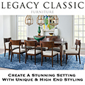 Create a Stunning Setting w/Unique & High End Styling to Your Dining Room Featuring Cabernet Finish