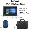 """Lenovo 15.6"""" Intel Core i3 4GB Laptop With Carrying Case & Wireless Mouse"""