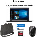 "Lenovo 15.6"" A12-Series 8GB AMD Radeon R7 -1TB Hard Drive  Laptop Bundle With Carry Case & Wireless"