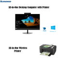 """Lenovo 21.5"""" Touch-Screen All-in-One Intel Core 8GB Memory 1TB HD Computer Bundle with Canon Printer"""