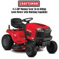 Craftsman T100 11.5-HP Manual/Gear 36-in Riding Lawn Mower with Mulching Capability (Included)