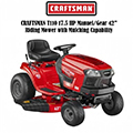 "Craftsman T110 17.5-HP Manual/Gear 42"" Riding Lawn Mower with Mulching Capability"