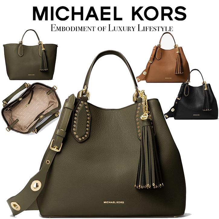 dcaf170def58 Michael Kors Brooklyn Large Leather Satchel