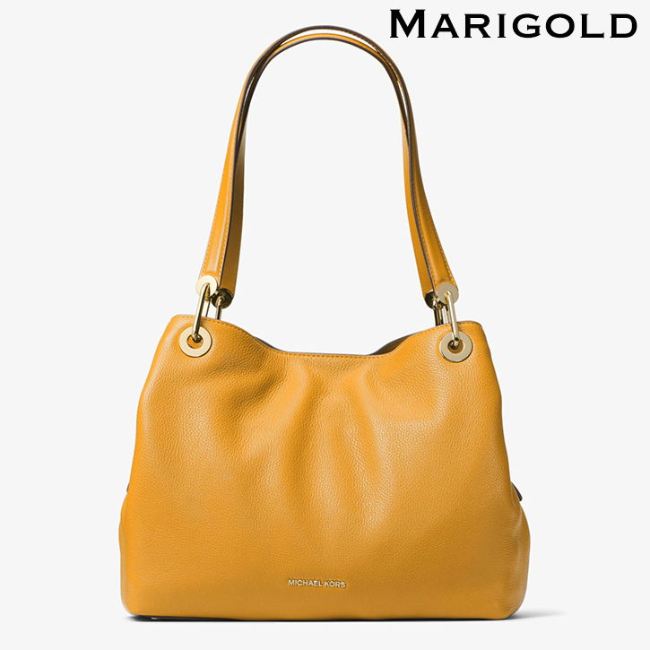 77a5641e36f0 Michael Kors Raven Large Leather Shoulder Bag