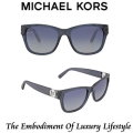 Michael Kors Tabitha IV Blue Gradient Square Sunglasses - Available In Blue Grey Glitter Frame