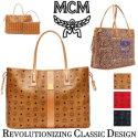 MCM Reversible Liz Visetos Large Shopper with Pouch