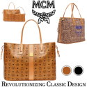 MCM Reversible Liz Visetos Large Shopper with Pouch