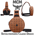 MCM 1976 Circle Visetos Crossbody