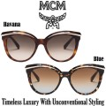 MCM Collection Cat Eye Sunglasses With Metal Trim - Available in 2 Colors