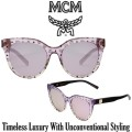 MCM Collection Cat Eye Logo Plaque Sunglasses - Available in Purple