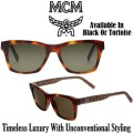 MCM Collection Rectangular Logo Plaque Sunglasses - Available in 2 Colors