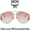 MCM Collection Embellished Aviator Wire Frame Sunglasses - Available In Rose Pink