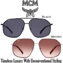 MCM Collection 157S Contemporary Geometric Navigator Uni-Sex Sunglasses - Available in 2 Colors
