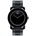 Movado Unisex Swiss Bold Large Black Polymer Bracelet Watch 42mm