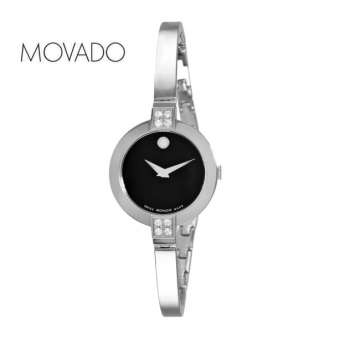 Movado Bela Ladies Stainless Steel with Diamonds with Black Dial Watch