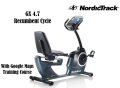 NordicTrack GX 4.7 Recumbent Cycle With Google Maps Training Course-Available In Gray W/Black Accent