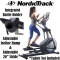 NordicTrack Elliptical Trainer With 20 Workout Apps, Adjustable Incline Ramp & Heart Rate Monitoring