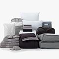 Black & Gray 24-Piece Twin XL Bedding & Bath Bundle with FREE Bonus Storage Trunk