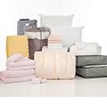 Blush Kiss Pleat 24-Piece Twin XL Bedding & Bath Bundle with FREE Bonus Storage Trunk
