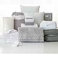 Gwen Gray 24-Piece Twin XL Bedding & Bath Bundle with FREE Bonus Storage Trunk