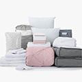 Paige Pink 24-Piece Twin XL Bedding & Bath Bundle with FREE Bonus Storage Trunk