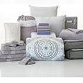 Rochelle 24-Piece Twin XL Bedding & Bath Bundle with FREE Bonus Storage Trunk