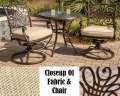 "Traditions 3PC Outdoor Seating Bistro Set Featuring 32"" Round Cafe Table & Deep Cushioned Chairs"