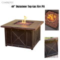 Cambridge Classic 40� Gas Fire Pit With Durastone Top, Lava Rocks